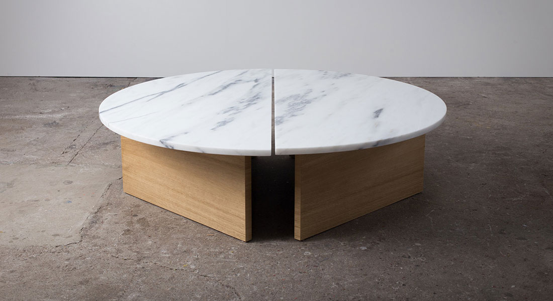 Half Coffee Table/Danby Marble by Ben & Aja Blanc